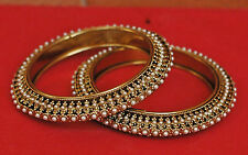 Pearl Fashion Indian Bridal Bollywood Dull Gold Tone Bangle Bracelet Set 2.6 2/6
