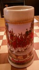 Budweiser Beer Stein Staffel Stoneware Made In W.Germany clydesdale horses