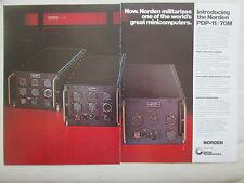 12/1977 PUB NORDEN PDP-11/70M MIL SPEC MILITARISED MINICOMPUTER ORIGINAL AD