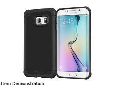 rooCASE Granite Black Exec Tough Hybrid Co-mold Case for Samsung Galaxy S6 Edge