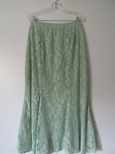 Anthony Original Green Lace Stretch Lined Elastic Waist Long Skirt NWOT SZ: 2X