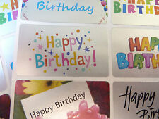 Happy Birthday Stickers, Colourful Labels for Cards & Envelopes - HBS5230