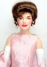 "Franklin Mint The Jackie 16"" Vinyl Doll Jaqueline Kennedy Pink Evening Gown +Box"