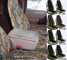 98-04 FORD RANGER 60-40 HIGHBACK SEAT camo/black center CAR SEAT COVERS CHOOSE