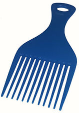 Blue 1970s Pimp Afro Wide Tooth 70s Funky Disco Fro Comb