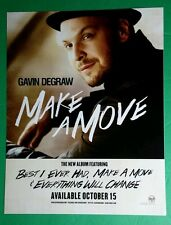 GAVIN DEGRAW MAKE A MOVE RCA PHOTO POSTER LARGE WINDOW CLING