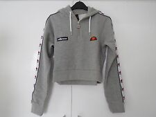New with tags Ladies  ELLESSE -CAREN Cropped Half Zip Sexy Gym hoodie- UK10
