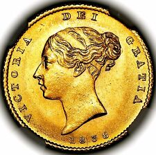 1838 Queen Victoria Great Britain London Gold Half 1/2 Sovereign NGC MS65