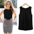 Women Summer Loose Sleeveless Casual Tank T-Shirt Blouse Tops Vest Black S