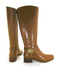 Michael Kors Fulton Harness Tall Riding Boots Luggage 7.5M