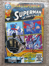 July 1993 20 689 Superman Comic Book Autograph signed Guice Rodier Stern Gammill