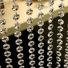 Acrylic Crystal Clear Hanging Bead Garland Chandelier 3.3 FT Wedding Decoration