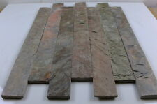 Split Face copper quartzite metalic stone  Strips 600 x 60 ( sample )