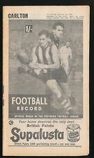 1964 Football Record Collingwood v Geelong Home & Away July 18 Magpies Cats