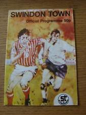 29/10/1985 Swindon Town v Sheffield Wednesday [Football League Cup] (Item in ver