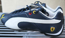 PUMA Future Cat Leather 10 Ferrari Mystic Blue White Men's Shoes US Size 9