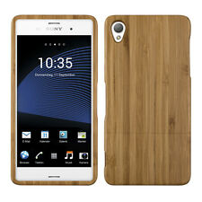 WOOD COVER FOR SONY XPERIA Z3 BAMBOO LIGHT BROWN CASE BACK HARD NATURAL MOBILE