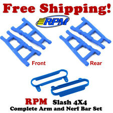 RPM Front & Rear Suspension Arms (4) + Nerf Bars Blue Traxxas Slash/Stampede 4x4