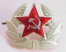 RUSSIAN SOVIET ARMY MILITARY INSIGNIA GOLD BADGE RED STAR ORDER MEDAL PIN AWARD
