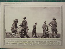 1915 WWI WW1 PRINT GENERAL BOTHA ON ACTIVE SERVICE DURING THE WAR ~ SOUTH AFRICA