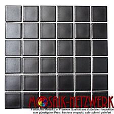 Mosaik schwarz matt Keramikmosaik Format Wand Boden Bad WC Art:16-0311 | 1 Bogen