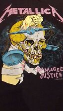 Metallica Damaged Justice Pushead Original Vintage Tour T Shirt 1988 XL Rare