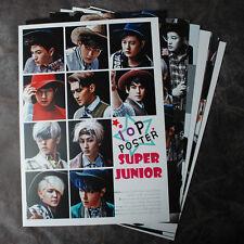 K-POP SUPER JUNIOR 10 Posters SUPER JUNIOR  Collection Bromide (10PCS)  A4 SIZE
