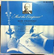 1951 ED1 US CBS IGOR STRAVINSKY meet the composer LP VG+ ML 4398 Joseph Szigeti