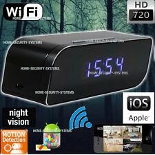 Wireless Camera WIFI IP Alarm Clock IR Room Home Security Video No SPY Hidden