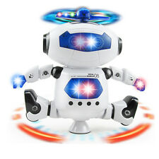 Smart Space Walking Dancing Robot 360° Rotate Electric Music Light Toy Kids Gift