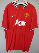 Vintage Manchester United Nike 2011 Home Football Shirt Trikot Jersey Sz 3XL