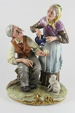 "Capodimonte Bruno Merli Figurine ""Tea Time"" WorldWide"