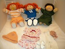 Cabbage Patch Doll Lot 3 Vintage 1980's diaper clothing dolls Xaiver Roberts