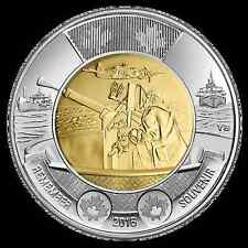UNCIRCULATED! 2016 Canada Battle of the Atlantic 75th Anniversary Toonie $2 Coin
