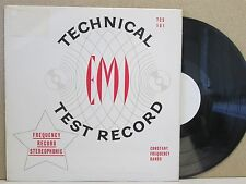 EMI TCS 101 Technical Test Record- Stereo Constant Frequency Bands Audiophile LP