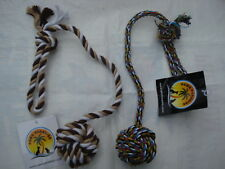 Knot Ball On Rope. Paws Paradise + Plutos Pets Pet Toy Wholesalers.