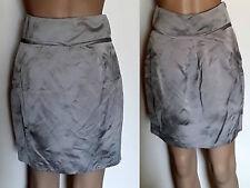 COUNTRY ROAD Size 6-8 Grey Linen Blend High Waist Mini Skirt