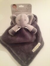 Blankets And & Beyond Baby Boy Security Lovey Dark Grey Elephant Nunu Layette