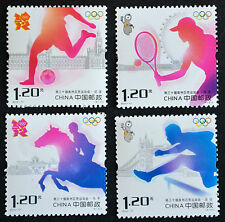 Briefmarken stamps timbres China 2012-17 Games of the XXX Olympiad tennis soccer