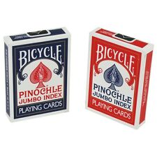 2 Decks Bicycle Rider Back Pinochle Jumbo Index Playing Cards Red & Blue New Box