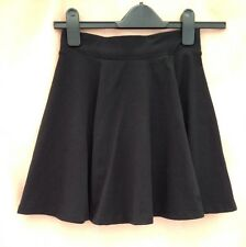 H&M Divided Short Skirt XS Black Elasticated Waist Full School College Casual