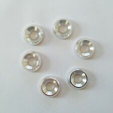Kart Pack of Six M8 x 21mm Countersunk Washer Silver Brand New Karting