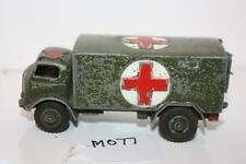DINKY MILITARY AMBLANCE 626 JOB LOT OR REPAIR  MADE ENGLAND   M077