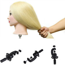 Hairdressing Hair Salon Training Mannequin Head Stand Holder Clamp Adjustable