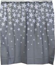 Duschvorhang STAR Sterne Grau 180x180cm Badevorhang Wannenvorhang Dusche Vorhang