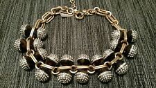 AUTHENTIC J CREW JEWELED TORTOISE AND PAVE CRYSTAL NECKLACE NWT$128
