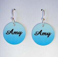 *Personalized* EARRINGS with YOUR NAME or PHOTO - Custom Charm Earrings - FUN!!