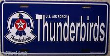 Aluminum Military License Plate Air Force Thunderbirds