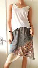 ETRO Ethereal Silk Triple Layer Paisley Skirt (retail £650)