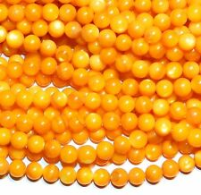 MPX1518L 10-Strands Golden Yellow Mother of Pearl 6mm Round Shell Beads 16""